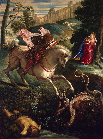 St. George by Tintoretto at the Hermitage in St. Petersburg, Russia