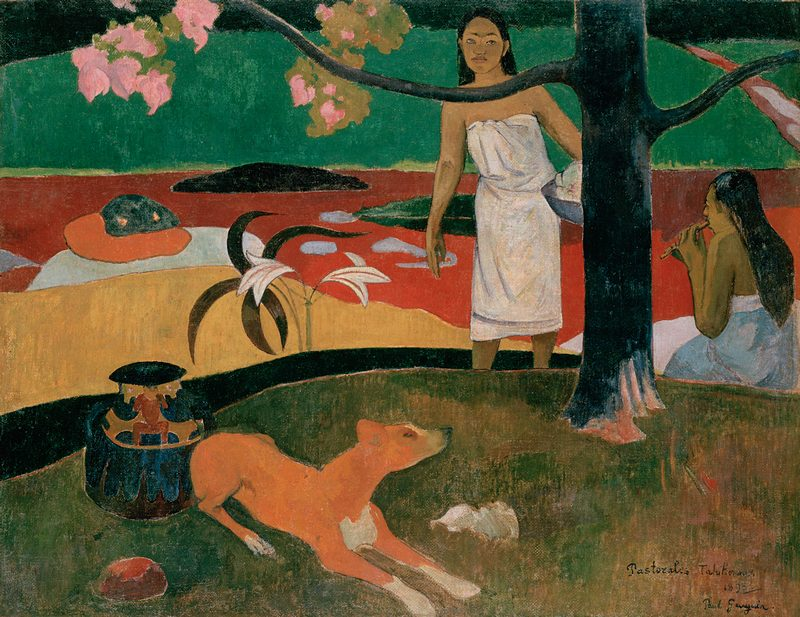 Tahitian Pastorale by Paul Gauguin at the Hermitage in St. Petersburg, Russia