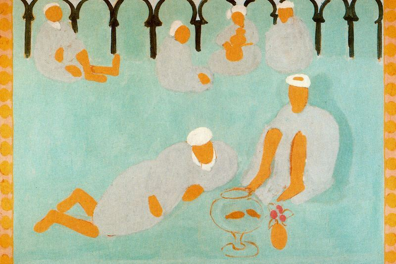 The Arab Coffee House by Henri Matisse at the Hermitage in St. Petersburg, Russia