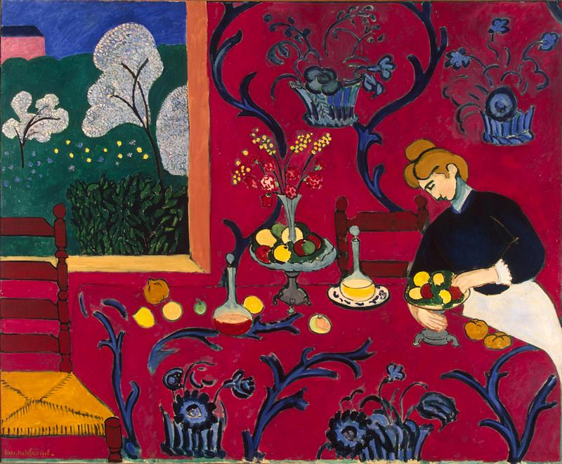 The Red Room by Henri Matisse at the Hermitage in St. Petersburg, Russia
