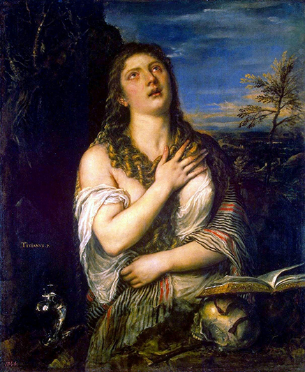 The Repentant Mary Magdalene by Titian at the Hermitage in St. Petersburg, Russia