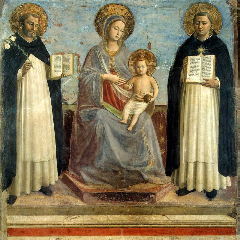 The Virgin and the Child with Sts. Dominic and Thomas Aquinas by Fra Angelico at the Hermitage in St. Petersburg, Russia