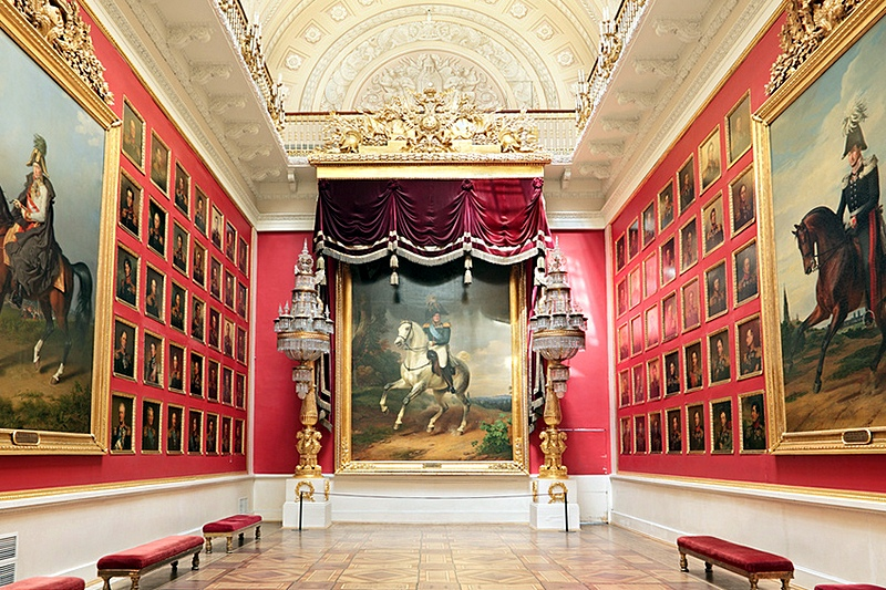 War Gallery of 1812 at the Winter Palace in St. Petersburg, Russia