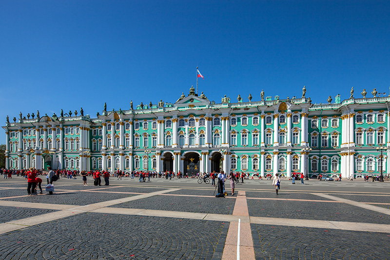 Winter Palace on Palace Square in St. Petersburg, Russia