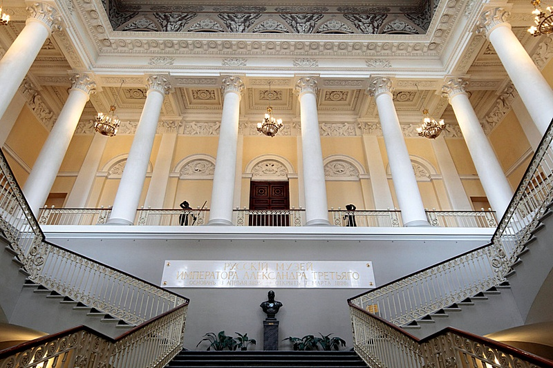 Main vestibule at Mikhailovsky Palace in St. Petersburg, Russia